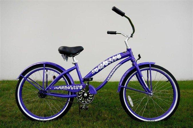 "GREENLINE LADIES 24"" BC-2406PL Single Speed Beach Cruiser Bike Bicycle/STEEL-Choose Color in Photos"