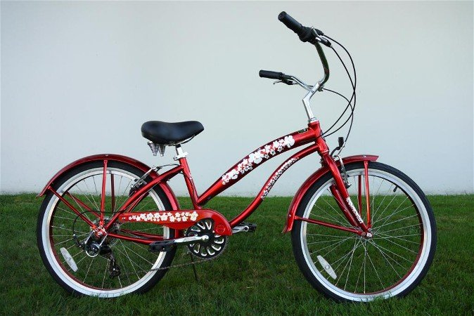 "GREENLINE LADIES 24"" BC-7406PL 7-Spd Beach Cruiser Bike Bicycle/STEEL-Choose Color In Photos"