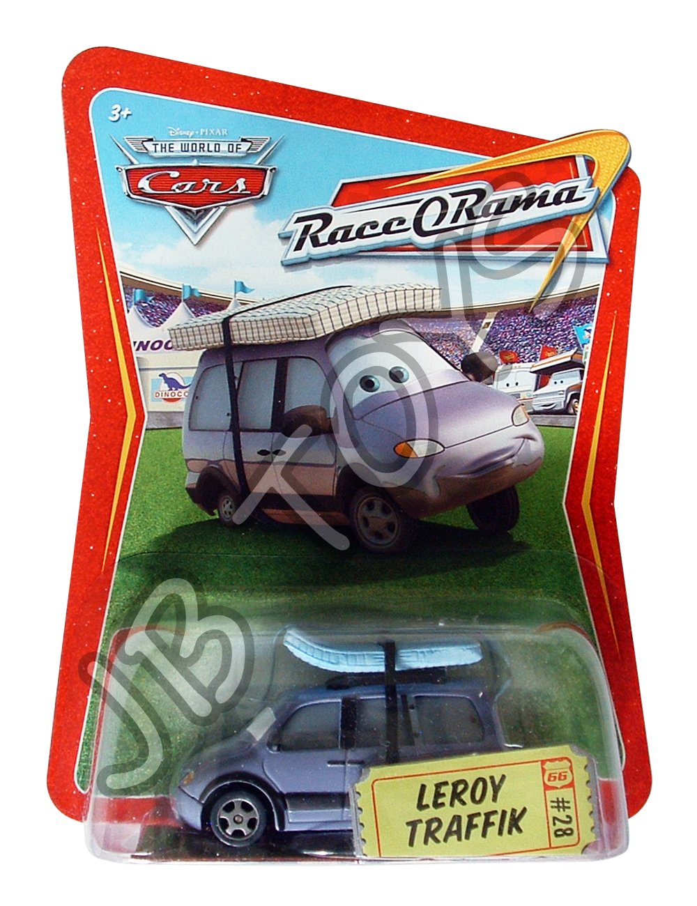 Disney PIxar Cars #28 Leroy Traffik Diecast Car Race O Rama World of Cars