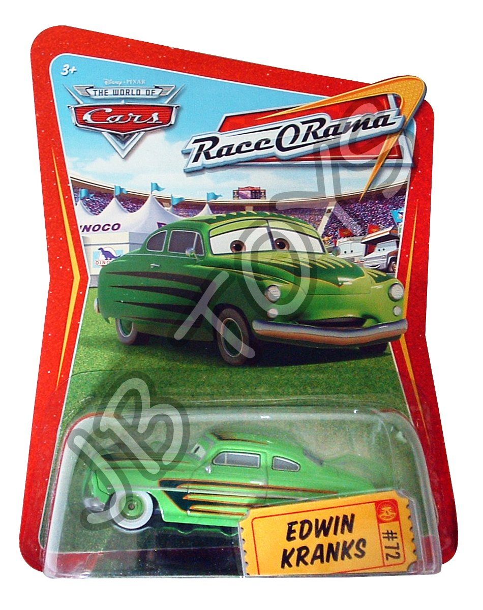 Disney PIxar Cars #72 Edwin Kranks Diecast Car Race O Rama World of Cars