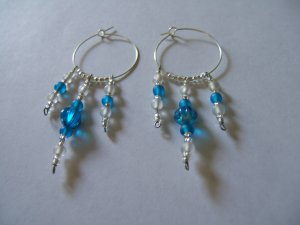Shades of Blue Hoop Earrings