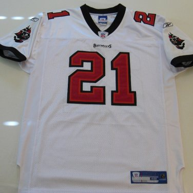 Tampa Bay Buccaneers Jersey, Authentic Reebok. White #21 Piscitelli, Size 48, Sewn