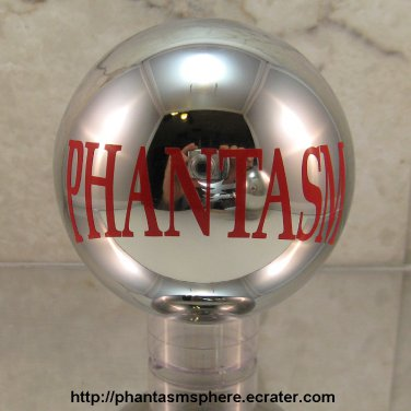 Metal PHANTASM SPHERE Ball with Red Sticker prop