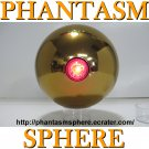 "*Larger (4.5"") Gold Laser (non-blink) style PHANTASM SPHERE Ball Prop Replica. part 2"