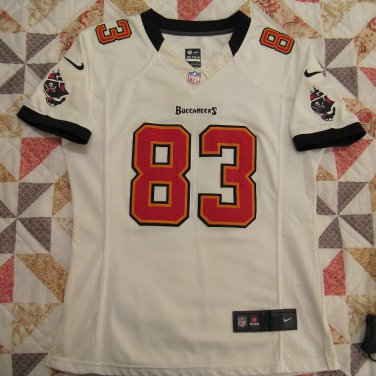 Tampa Bay Buccaneers Jersey, Womens or Girls Large. White #83 Jackson, Sewn