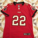 Tampa Bay Buccaneers Jersey, Womens or Girls Large. Red #22 Martin, Sewn