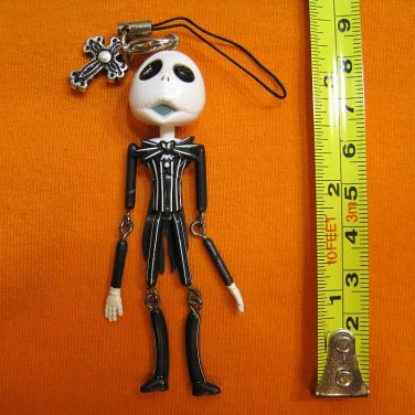 Jack Skellington Figure ornament, keychain swing decoration. Surprised Face