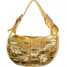 Metallic Handbag w/ Woven Sequin Design