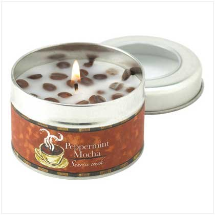 #12799 Peppermint Mocha Scent Tin Candle