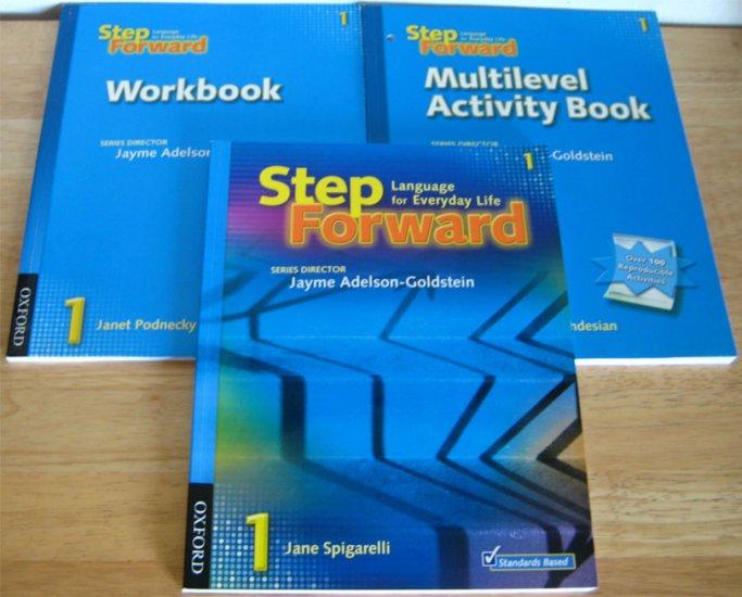 Step Forward 1 Text & Workbook & Activity Book ESL NEW