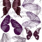 Purple Hue Wings Digital Collage Sheet