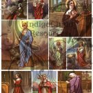 Female Saints Digital Collage Sheet