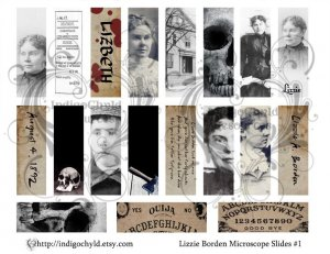 Lizzie Borden Microslide Collage Sheet