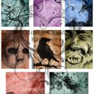 ATC Spooky Digital Collage sheet