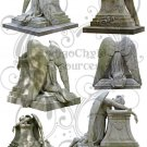 Weeping Angel Statue Digital Collage Sheet