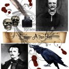 Edgar Allan Poe Digital Collage sheet