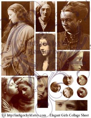 Elegant Girls Digital Collage Sheet