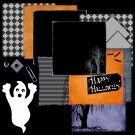 Halloween Digital Scrapbook Kit