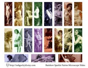 Rainbow Sparkle Fairies Digital Collage Sheet