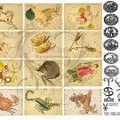Zodiac Digital Collage Sheet JPG
