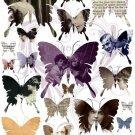 Butterfly Ephemera Digital Collage Sheet