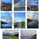 ATC/ACEO Waterscape Digital Collage Sheet