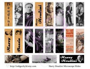Harry Houdini Microslide Digital Collage Sheet