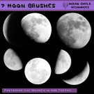 Seven Moon Brushes for Photoshop CS2