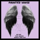 Painted Angel Wings PNG Pack