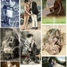 Secret Vintage Love Digital JPG Collage sheet