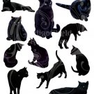 Black Cats Digital Collage Sheet JPG