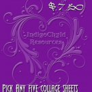 Five Collage Sheets for $7.50