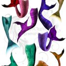 Mermaid Tails Digital Collage Sheet pdf