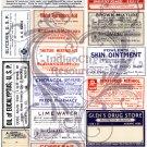 Vintage Medicine Labels Digital Collage Sheet JPG