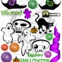 Halloween Toon Digital Collage Sheet JPG