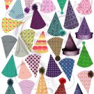 Birthday Hats Digital Collage Sheet JPG