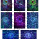 Swirling Vortex ATC Digital Collage Sheets JPG