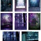 Spookyville ATC Digital Collage Sheet JPG