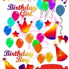 Birthday Digital Collage Sheet JPG