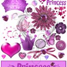 Princess Digital Collage Sheet JPG