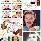 Coffee or Tea Digital Collage Sheet JPG
