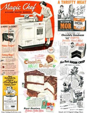 Kitsch Ad 12 Digital Collage Sheet JPG