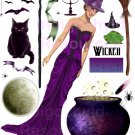 Penelope The Witch Paper Doll Digital Collage Sheet JPG
