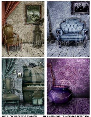 Sit A Spell Digital Collage Sheet JPG