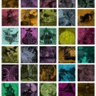 1.5 Vintage Halloween Tiles Digital Collage Sheet JPG