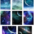 Cosmic Space ATC or ACEO Digital Collage Sheet 2 JPG
