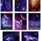 Fantasy Angels ATC Bases Digital Collage Sheet JPG