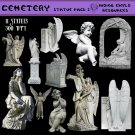 Cemetery Digital PNG Pack 2