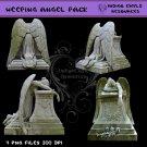 Weeping Angel Statue Digital PNG Pack