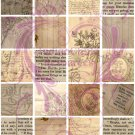 3x3 Inch Plain Ephemera Based Digital Collage Sheet JPG